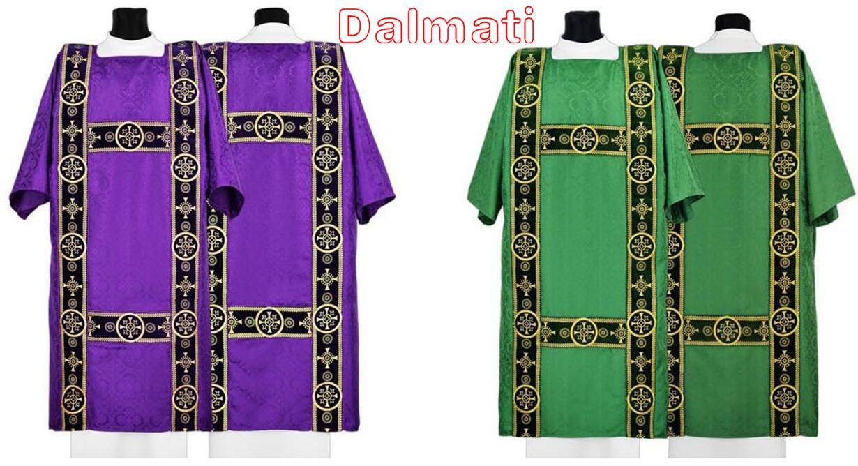 Shanghai Simiqi Costume Co Ltd Chasuble Dalmatic Vestment Choir Robe Baptismal Gown Surplice Cassock Alb Church Stole Pulpit Robe Clergy Shirt Graduation Gown