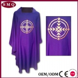 Purple embroidery chasuble
